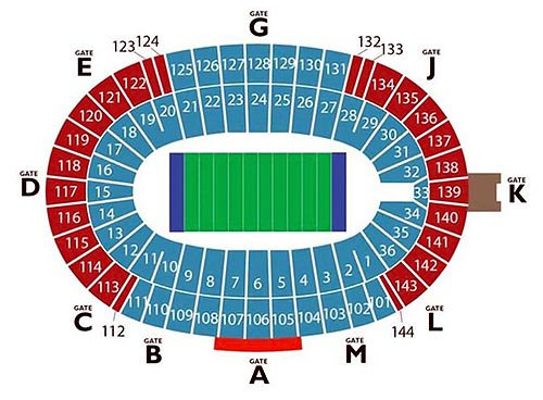 New Cotton Bowl Seating Chart