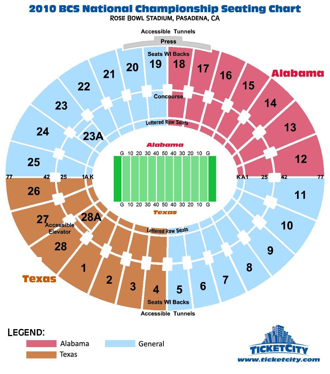 bcs national championship rose bowl seating chart