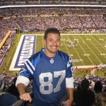 Hans at a Colts game.