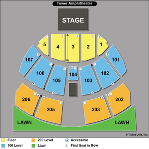 Tower Amphitheater - Seating Chart