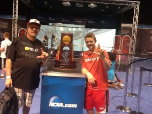 Jerry Hambaugh & his grandson Hunter at the 2013 Final Four in Atlanta.