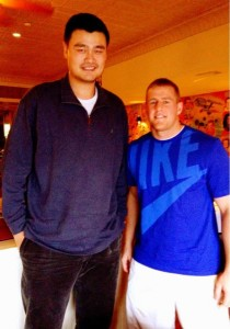Yao Ming and JJ Watt