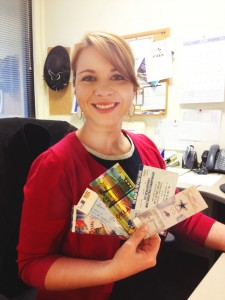 TicketCitizen Ashley with some of her ticket collection.