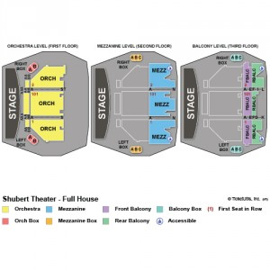 Seating Map for Shubert Theatre.
