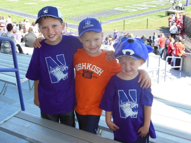 Having fun in Evanston during a Northwestern game