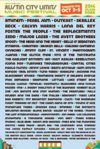 Austin City Limits Music Festival 2014 Lineup