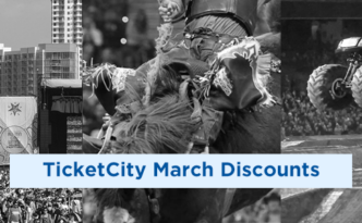 TicketCity March Discount header collage