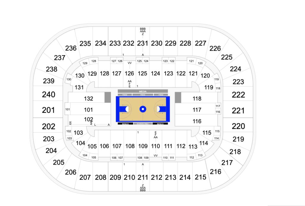 Greensboro Coliseum Seating Chart - Basketball