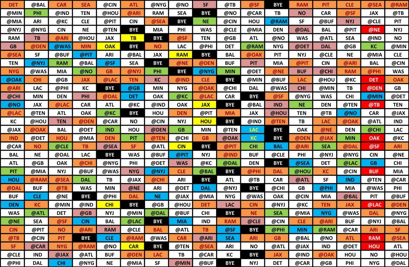 NFL Schedule Image