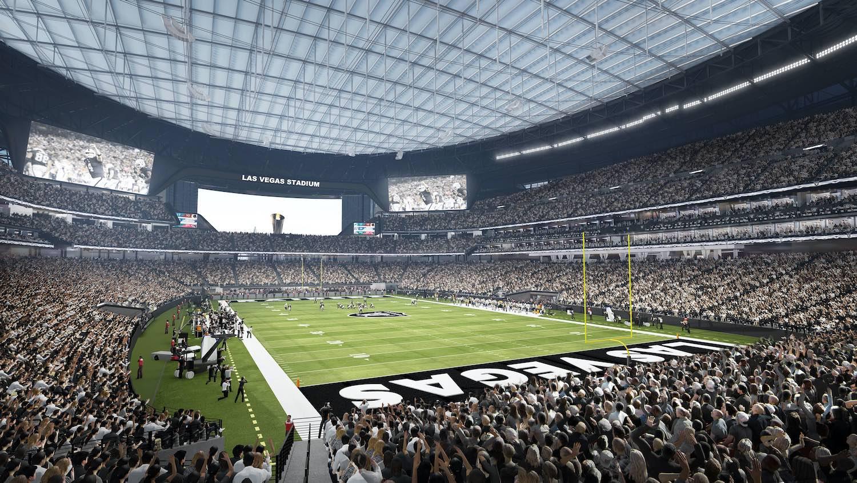 Allegiant Stadium interior rendering