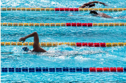 Swimmers in competition
